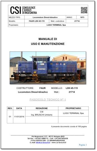 Manuali di uso e manutenzione ferroviari